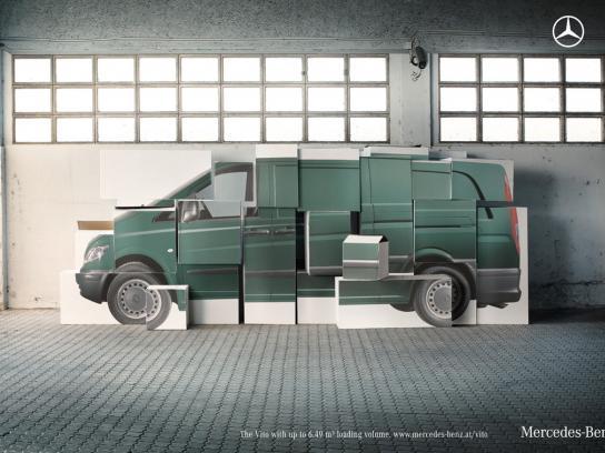 Mercedes Print Ad -  Boxes