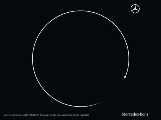 Mercedes Print Ad -  Curves