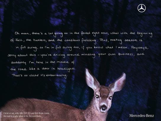 Mercedes Print Ad -  Deer