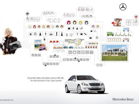 Mercedes Print Ad -  Ex-wife