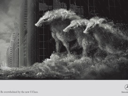 Mercedes Print Ad -  Horses