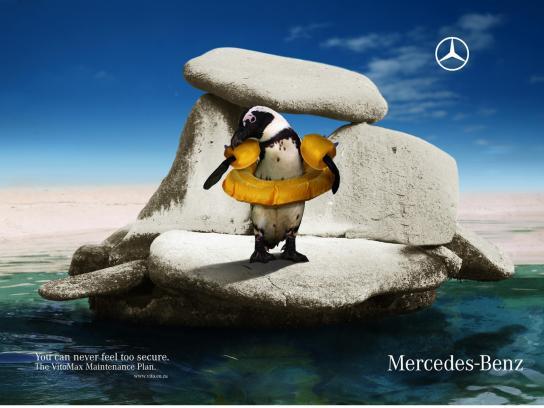 Mercedes Print Ad -  Penguin