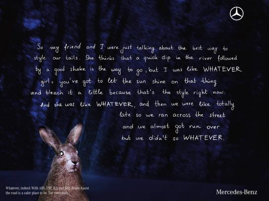Mercedes Print Ad -  Rabbit