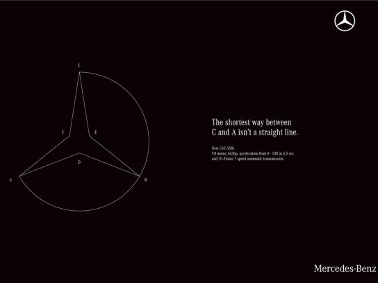 Mercedes Print Ad -  Straight