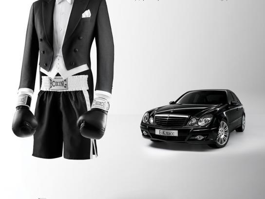 Mercedes Print Ad -  Boxing