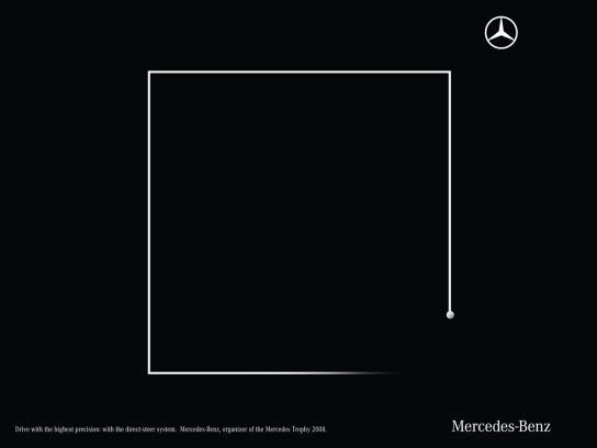 Mercedes Print Ad -  Precision