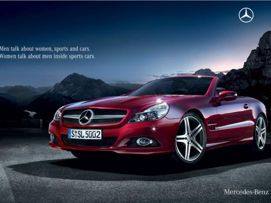 Mercedes Print Ad -  Talk