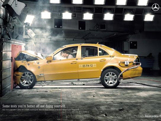 Mercedes Print Ad -  Crash test