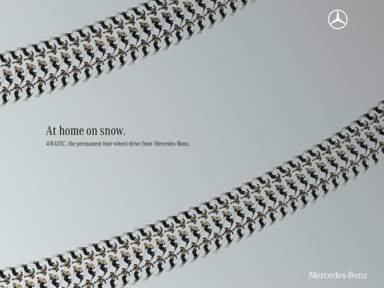 Mercedes Print Ad -  Snow