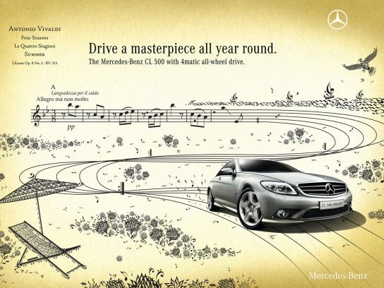 Mercedes Print Ad -  Four Seasons, 1