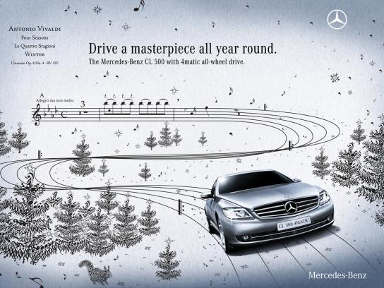 Mercedes Print Ad -  Four Seasons, 2