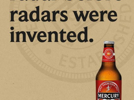 Mercury Print Ad -  Radar