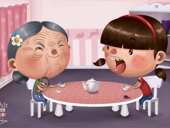 Merello Print Ad -  Tea party