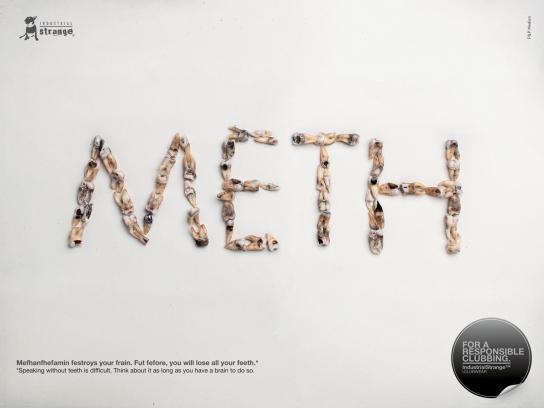 Industrial Strange Print Ad -  METH