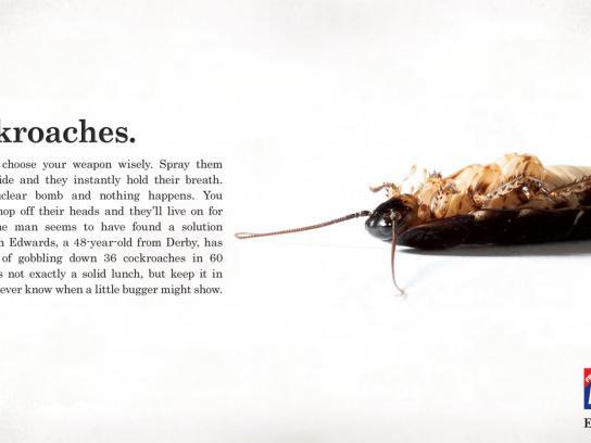 Metro Print Ad -  Cockroaches