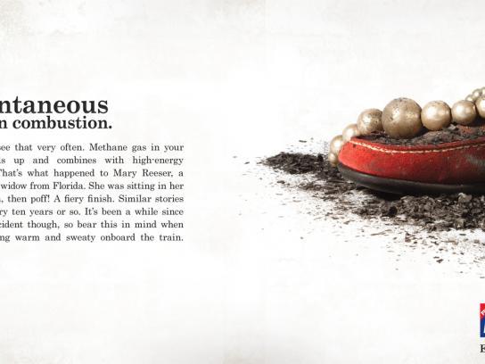 Metro Print Ad -  Spontaneous Combustion