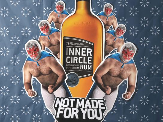 Inner Circle Rum Print Ad -  Wrestler