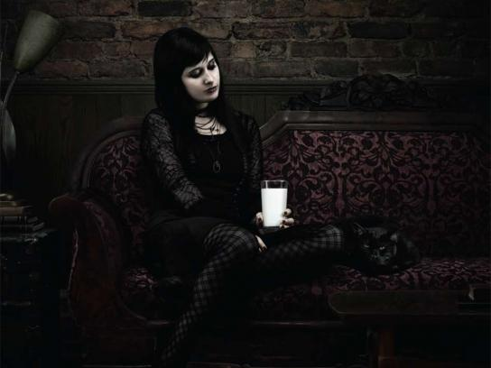 Milk Print Ad -  Goth