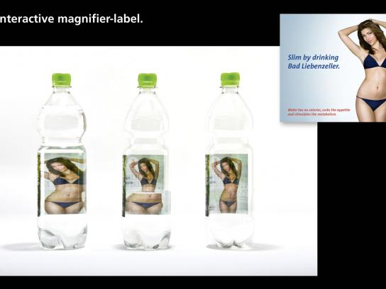 Mineralbrunnen Bad Liebenzell Direct Ad -  Interactive Magnifer-Label