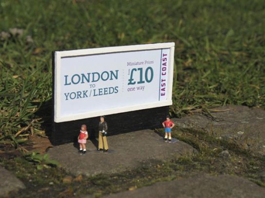 Eats Coast Trains Outdoor Ad -  London to York / Leeds