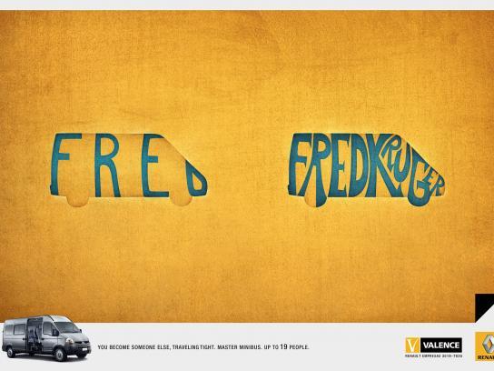 Renault Print Ad -  Fred Krueger