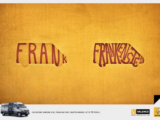 Renault Print Ad -  Frankenstein
