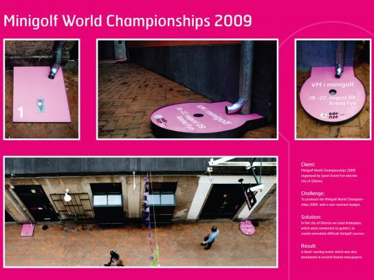 Minigolf World Championships Ambient Ad -  Drainpipe