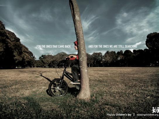 Missing Children Print Ad -  Tree