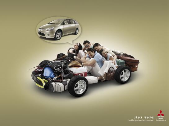 Mitsubishi Print Ad -  Spacious, 1