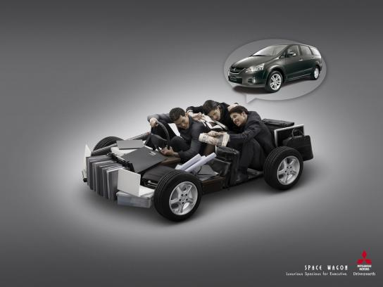 Mitsubishi Print Ad -  Spacious, 2