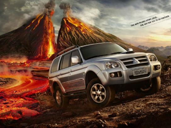 Mitsubishi Print Ad -  Volcano