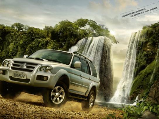 Mitsubishi Print Ad -  Waterfall