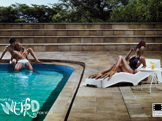 Mix Brasil Print Ad -  Swimming pool