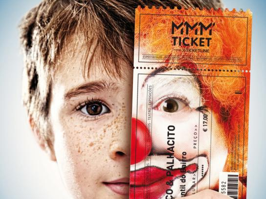MMM Ticket Print Ad -  Clown