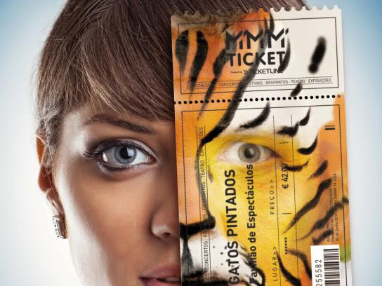 MMM Ticket Print Ad -  Tiger
