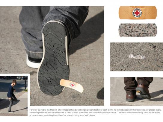 Modern Shoe Hospital Ambient Ad -  Band Aid