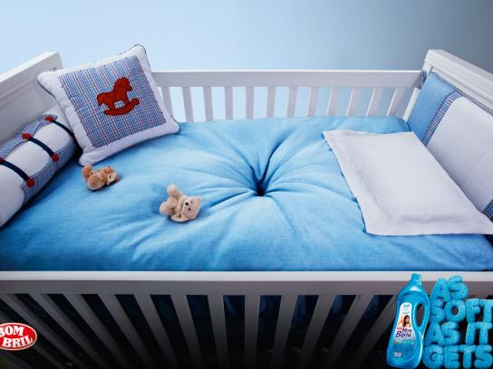 Bombril Print Ad -  As soft as it gets, Baby room