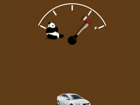 Ford Print Ad -  Panda