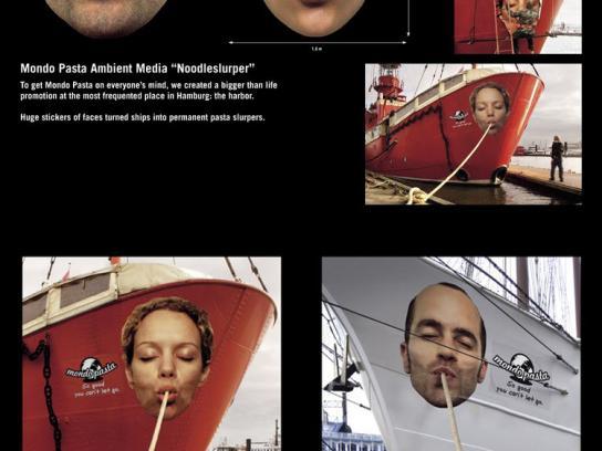 Mondo Pasta Ambient Ad -  Boat