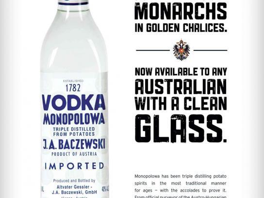 Monopolowa Print Ad -  Austrian Monarchs