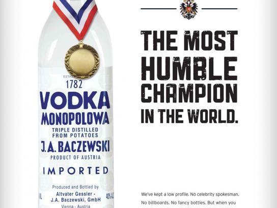 Monopolowa Print Ad -  Humble Champ