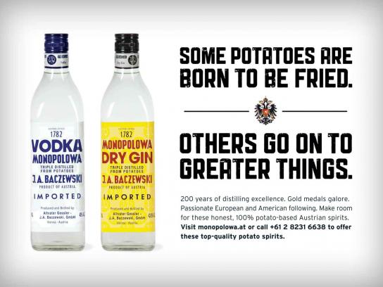 Monopolowa Print Ad -  Born To Be Fried