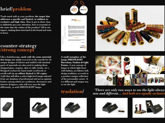 DressLight Print Ad -  Kaleidoscope