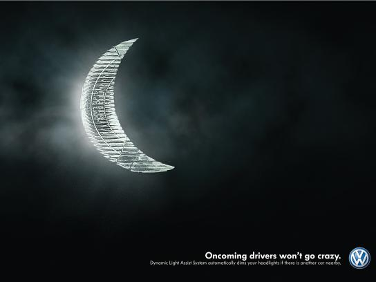 Volkswagen Print Ad -  The Moon
