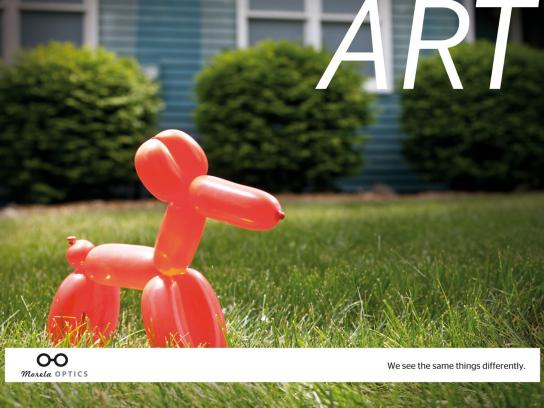 Morela Optics Print Ad -  Balloon dog