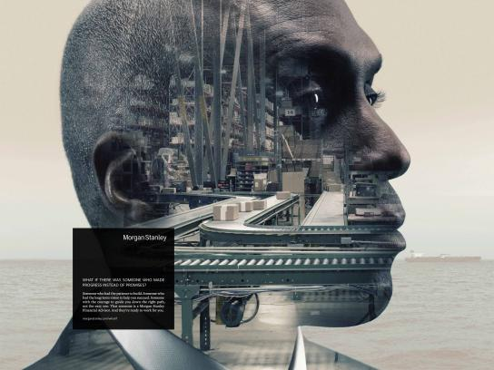 Morgan Stanley Print Ad -  African American Man