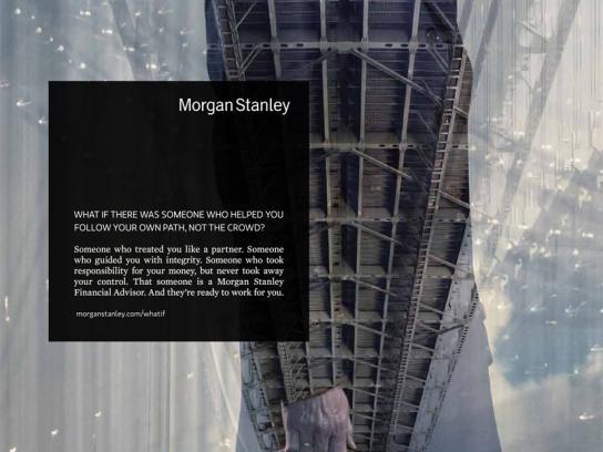 Morgan Stanley Print Ad -  Briefcase