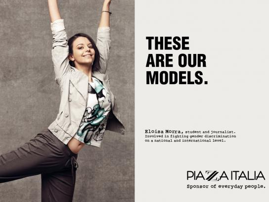 Piazza Italia Print Ad -  Our models, Morra