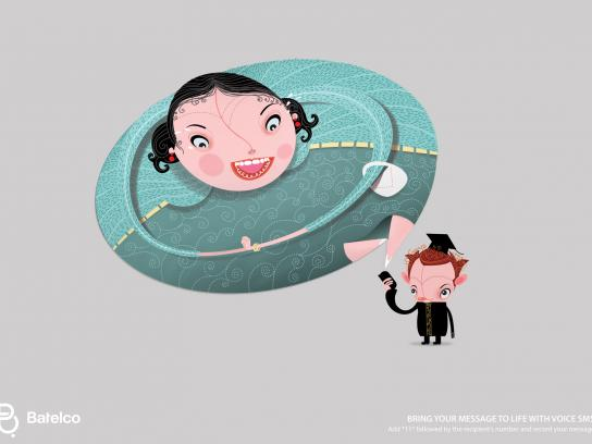 Batelco Print Ad -  Bubbles, Mother