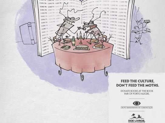 Grupo Bandeirantes de Comunicação Print Ad -  Moths, 2